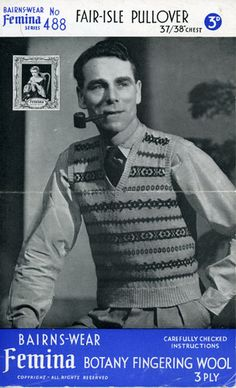 Fair Isle sweater and vest patterns galore