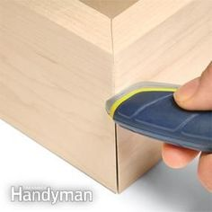 You can close a small miter gap by rubbing it with a screwdriver shank or any hard, smooth tool. We used the end of a utility knife. That crushes the wood fibers inward to make the gap disappear. Even professional woodworkers sometimes resort to this.