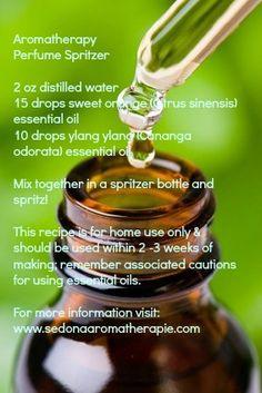 Simple Aromatherapy Perfume Spritzer: