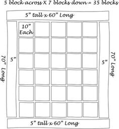 Make a sketch of your quilt plan -- I used finished sizes.