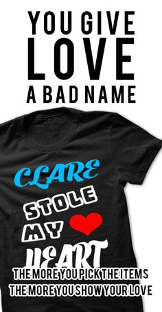 Clare Stole My Heart - Cool Name Shirt ! If you are Clare or loves one. Then this shirt is for you. Cheers !!!