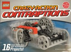 Klutz LEGO Crazy Action Contraptions and over 7,500 other quality toys at Fat Brain Toys. Fifty full-color pages of easy to follow step-by-step instructions turn 87 LEGO pieces into the craziest creations you've ever seen. Go bonkers with hours of contraption action fun!