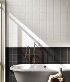 @fapceramiche Simple use of contrasting tiles
