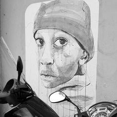 Street Art, Florence, Italy  #streetart #streetphoto #streetartistry #sketching #sketch #illustration #art #drawing #bnw #blancoynegro #blackandwhite #blackandwhitephotography #travel #travelling #wanderlust #Florence #Firenze #Italy #Italia