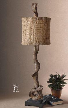 $249 One Light Weathered Driftwood Table Lamp : JUJF | LightingOne of Cincinnati