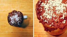 Low Carb Rezept für einen Low-Carb Schoko-Tassenmuffin mit Kokosflocken. Wenig Kohlenhydrate und einfach zum Nachkochen. Super für Diät/zum Abnehmen.