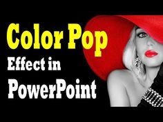 Color Pop Photo Effect in PowerPoint - Photo Design Tutorial and Download - YouTube