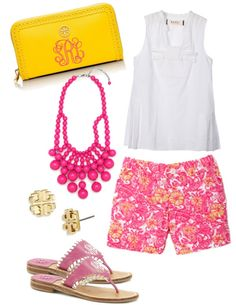 Bright color outfits for this summer