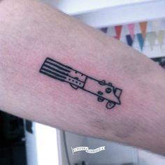 Luke's lightsaber tattoo by Peter Heinrisch