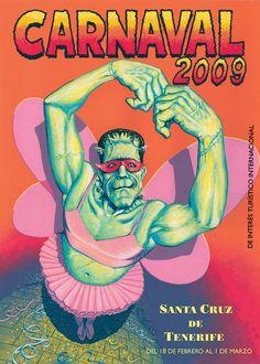 Cartel Carnaval Santa Cruz de Tenerife Año 2009