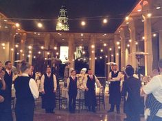 Our amazing event manager giving last minute direction for a wedding at the San Diego Museum of Art.