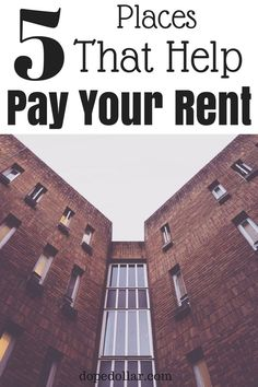 Hey if you're struggling to pay rent there's actually organizations and charities that will help you pay rent! It's a super cool way to get rent relief. Theres 5 places that help people with rent payments and you can see them here.