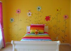 habitacion juvenil chica color amarillo