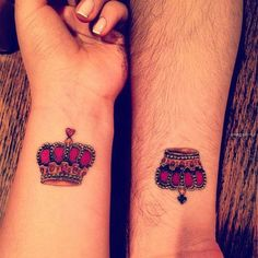 this might be my fave idea for a #crown #tattoo. A queen and her king:)
