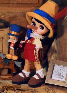 Pinocchio custom Blythe doll @ somedoll 某只