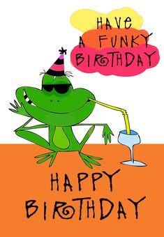 Free Printable Funky Birthday Greeting Card So Cool You Can Customize The Entire