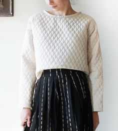 Ossining Cropped Quilted Sweater by Snoozer Lose