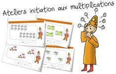 Initiation aux multiplications ( le sens ) Voici les 24 fiches sur la multiplication. A travailler sur TBI et/ou sur fiches plastifiées avec un feutre magique ! ( feutres comme ceux ci : ici) Vo…