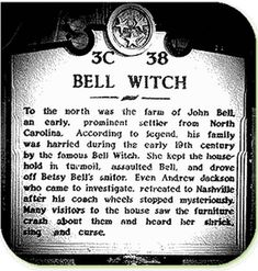 Legends of witches in America have been around since the beginning of America. Read stories about Maryland's witch Moll Dyer, the notorious Salem Witches, the Bell Witch of Tennessee fame, The Blair Witch, and also Wiccademous of Floridian fame. Spooky Places, Haunted Places, Haunted Houses, Scary Stories, Ghost Stories, Bizarre Stories, Horror Stories, Bell Witch, John Bell