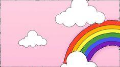 Free Video Background, Powerpoint Background Design, Kids Background, Cartoon Background, Animation Background, Rainbow Background, Art Drawings For Kids, Doodle Drawings, Cartoon Drawings