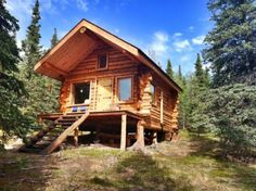 I thought I'd share this excellent example of people living simply in a tiny cabin in Alaska. It's a simple log cabin with a covered front deck. When you walk inside you've got your living area and...