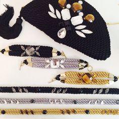 ● Bolso & accesorios de cordón de seda | Diseños de OLVIDO MADRID  www.olvidomadrid.es