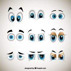 como hacer ojos con expresion alegre - Buscar con Google
