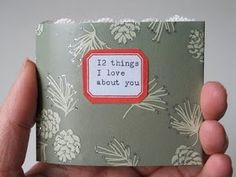 "In.good.style: DIY-Project: Mini Book ""12 things I love about you"""