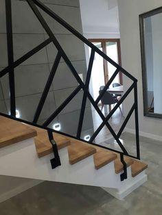 Home Room Design, Home Interior Design, Living Room Designs, Stair Railing Design, Stair Handrail, Custom Metal Work, Home Entertainment Centers, Hallway Designs, Modern Stairs