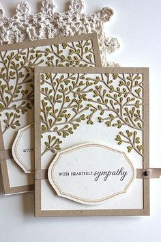 With Heartfelt Sympathy Card by Heather Nichols for Papertrey Ink (March 2015)