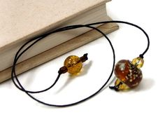 Book Thong Bookmark Golden Brown Book String Book by TJBdesigns, $4.00