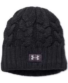 Soft cable knit gives this Around Town beanie from Under Armour a great look and a warm feel. | Acrylic; lining: polyester | Hand wash | Imported | One size fits all | Web ID:2449353