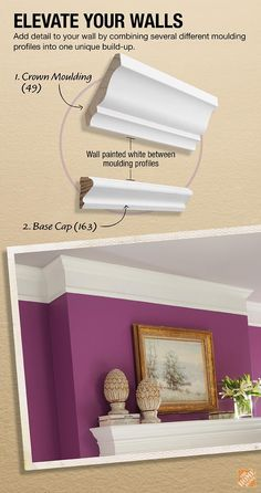 Chair Rail Pros And Cons Wheelchair Malaysia 22 Best Wainscoting Moulding Images Ideas Wall Add Detail To Your Crown By Combining Several Different Profiles Into One Unique Build