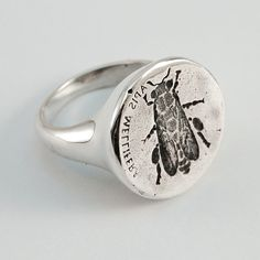 Hey, I found this really awesome Etsy listing at https://www.etsy.com/listing/179814814/honeybee-ring-silver
