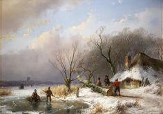 Andreas Schelfhout (1787 - 1870), Winterlandschap, 1847, collectie Teylers Museum