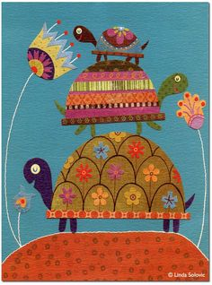 Santoro London Turtles Greeting Card by Linda Solovic, via Behance