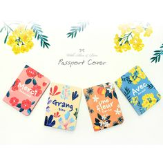 With Alice Rim flower pattern passport cover case - fallindesign