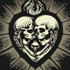 Sacred heart with skulls