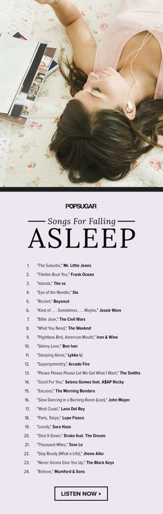 And finally, for relaxing as you fall asleep: | 16 Charts That Will Help You Be Way Less Stressed