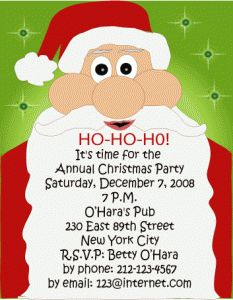 ideas for christmas invitations