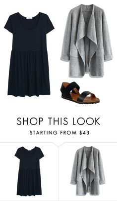 """black dress outfit 1"" by jessica-rose-lentz on Polyvore featuring MANGO, Chicwish and Miz Mooz"