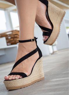 Γυναικείες πλατφόρμες 062.9998-BLACKCASTOR Espadrilles, Wedges, Shoes, Fashion, Rigs, Espadrilles Outfit, Moda, Shoe, Shoes Outlet