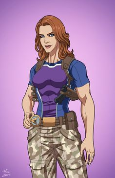 Lyla Michaels-Diggle (Earth-27) commission by phil-cho on DeviantArt