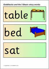 Goldilocks and the Three Bears story word cards (SB3411) - SparkleBox