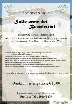 Sulle Orme dei Benedettini a Serle  http://www.panesalamina.com/2017/56709-sulle-orme-dei-benedettini-a-serle.html