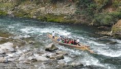 Kyoto Travel: Hozugawa River Cruise - this can be paired with a historic train ride in the other direction