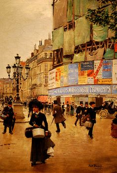 "The National Art Gallery (Washington DC). ""Paris, Rue de Havre"" by Jean Beraud (1882)."