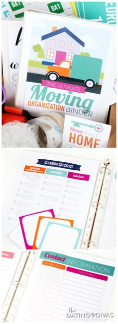 Moving Binder with printable moving checklists, packing labels, and EVERYTHING you need to stay organized!!!!! Saving this for our next move. (Hopefully it's still years away. lol.)