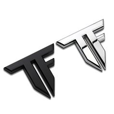 Car Sticker Emblem Badge TF Letter Logo Metal 2 Colors 6x5cm Tuning Auto Motorcycle Car Styling Accessories Letter B, Letter Logo, Motorbike Accessories, Forearm Sleeve Tattoos, Street Racing, Car Stickers, 2 Colours, Transformers, Black Silver
