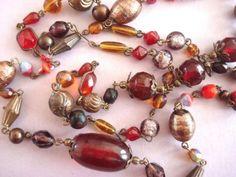 verkopers.marktplaats.nl/7443487 Vintage Art Deco 20's glas kralen ketting